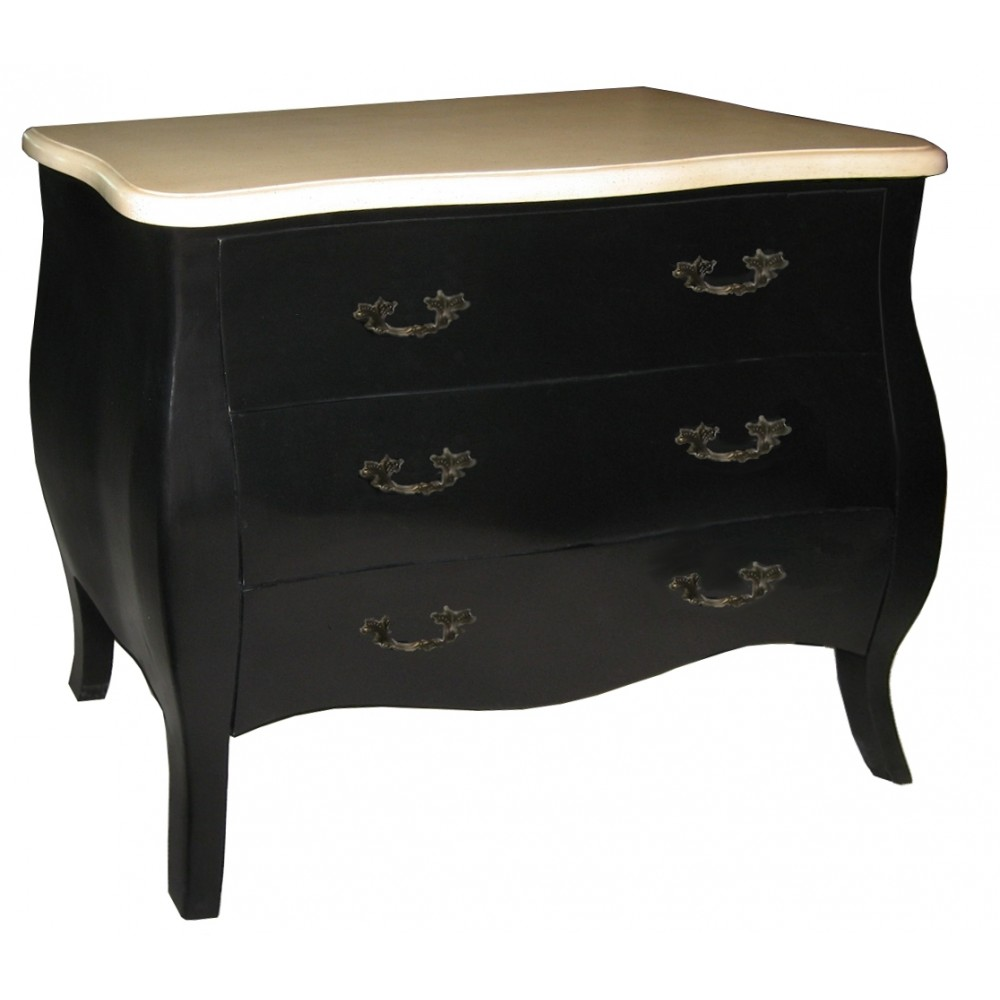 commode chinoise laque blanche et noire magasin du meuble asiatique et chinois. Black Bedroom Furniture Sets. Home Design Ideas