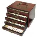 Jeux de mahjong en coffret chinois