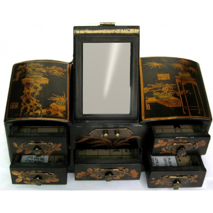 coffret bijoux coiffeuse et miroir magasin du meuble asiatique et chinois. Black Bedroom Furniture Sets. Home Design Ideas