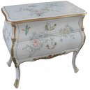 Petite commode chinoise blanche 2 tiroirs
