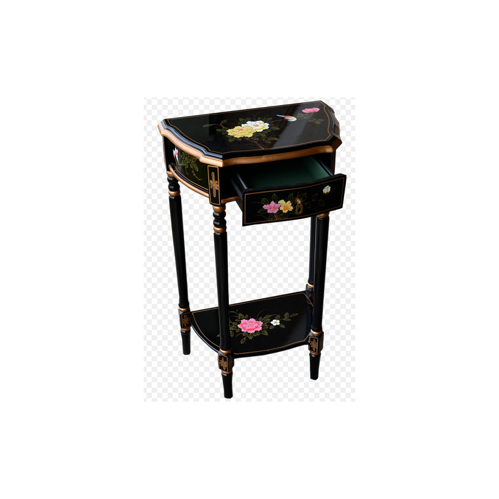 console asiatique laqu e ancienne noire et nacre magasin. Black Bedroom Furniture Sets. Home Design Ideas