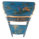 Meuble console chinoise bleue