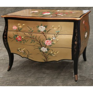 Commode Chinoise Laque Doree Meubles Chinois Laques
