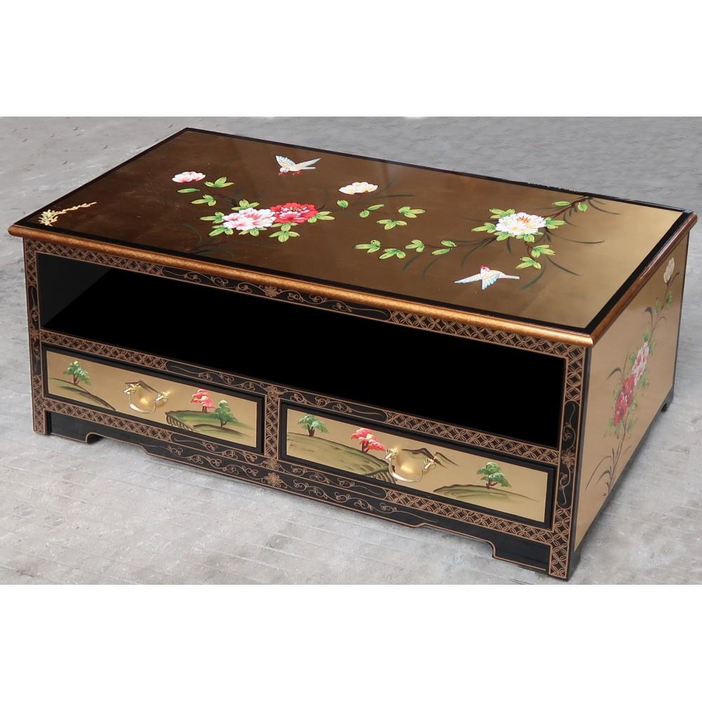 Meuble tv chinois laque dor e magasin du meuble for Mobilier asiatique