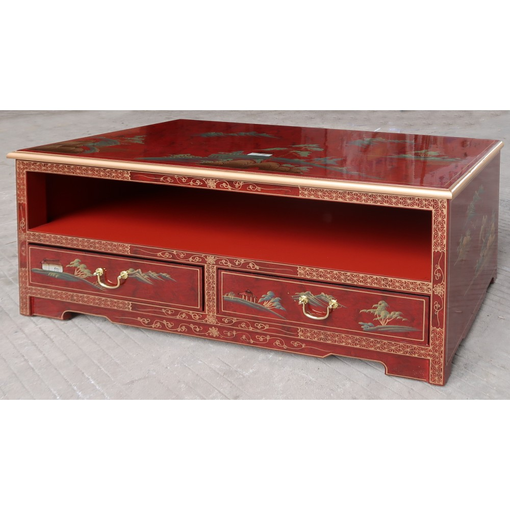 Meuble Tv Chinois Laque Rouge Magasin Du Meuble Asiatique Et Chinois # Meuble Tv Style Asiatique