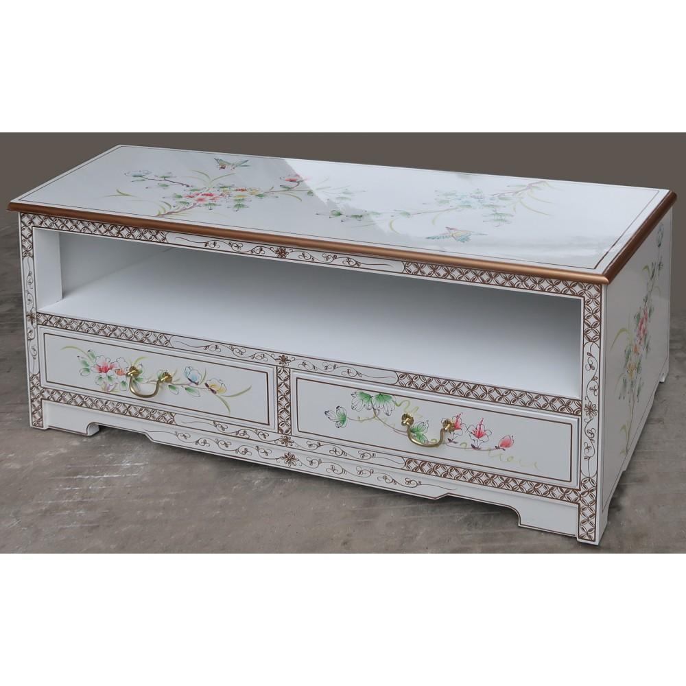 meuble tv chinois laqu blanc magasin du meuble asiatique et chinois. Black Bedroom Furniture Sets. Home Design Ideas
