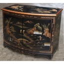 meuble commode buffet chinois laque noire