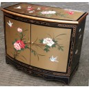meuble commode buffet chinois laque dorée