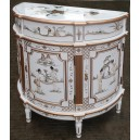 Commode chinoise laquée blanc