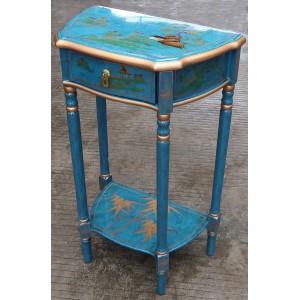 console d'entrée chinoise laquée bleu