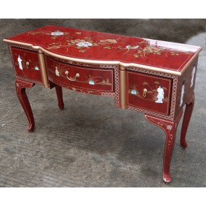 Bureau chinois laque rouge meubles chinois laqu s Petit meuble rouge laque