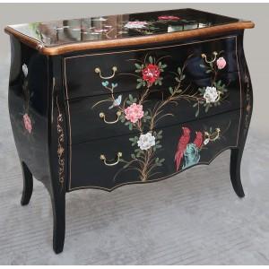 commode chinoise laque noire magasin du meuble asiatique et chinois. Black Bedroom Furniture Sets. Home Design Ideas
