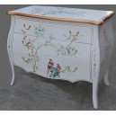 Commode chinoise laque blanche