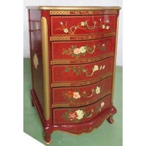 Chiffonnier chinois laque d'or