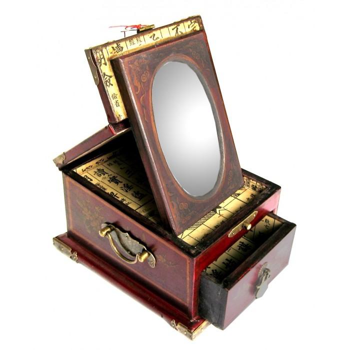 boite bijoux avec miroir magasin du meuble asiatique et chinois. Black Bedroom Furniture Sets. Home Design Ideas