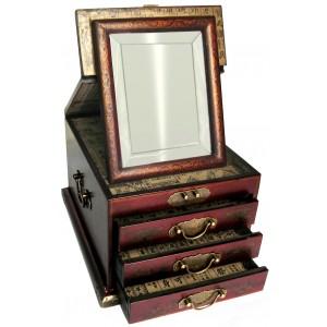 boite bijoux avec miroir biseaut magasin du meuble asiatique et chinois. Black Bedroom Furniture Sets. Home Design Ideas