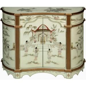 meuble chinois commode ancien galb laqu blanc magasin du meuble asiatique et chinois. Black Bedroom Furniture Sets. Home Design Ideas