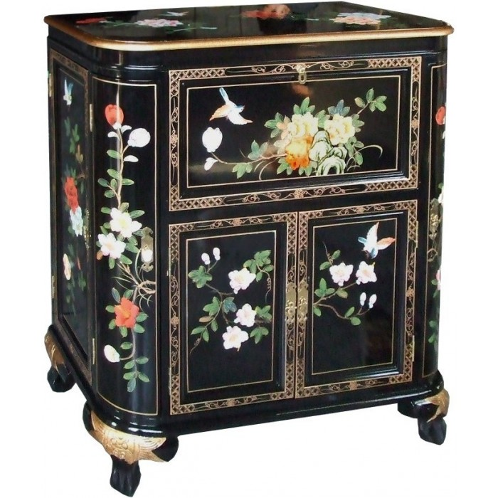 meuble bar chinois ancien noir laqu magasin du meuble
