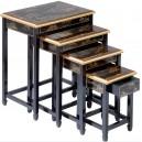 Tables chinoises gigognes noire