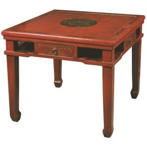 Table chinoise de jeux rouge