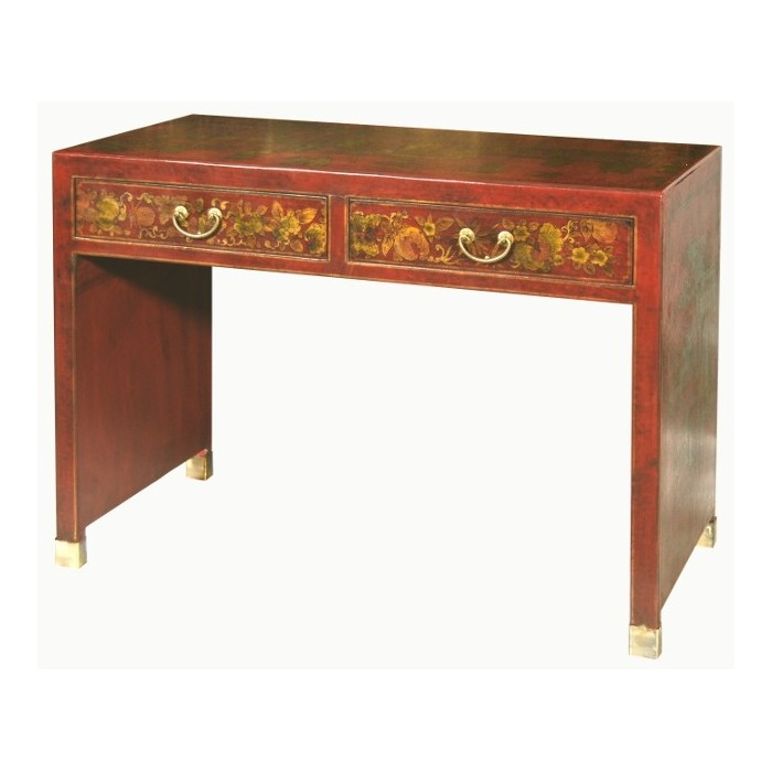 Bureau chinois rouge magasin du meuble asiatique et chinois for Meuble asiatique