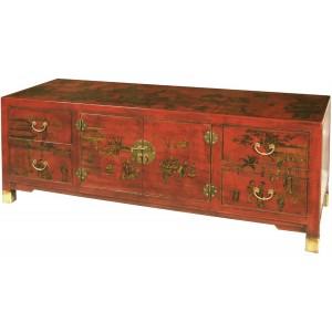 Meuble tv chinois magasin du meuble asiatique et chinois - Meuble asiatique rouge ...