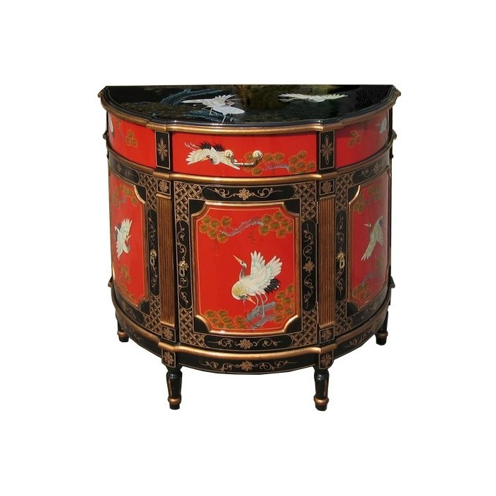 commode chinoise ancienne rouge et noire laqu e magasin. Black Bedroom Furniture Sets. Home Design Ideas