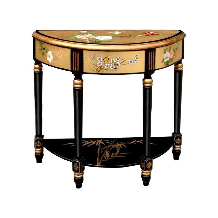 Grande console chinoise laque style ancien magasin du for Mobilier chinois ancien