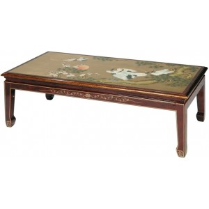 Table chinoise basse laque d'or