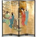 Paravent Geisha japonais 4 panneaux