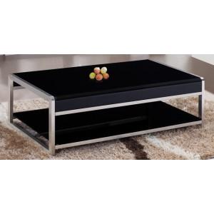 Table basse verre et métal