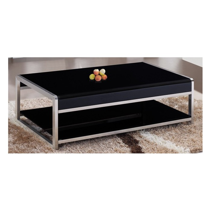 Table basse verre et m tal magasin du meuble asiatique - Table basse metal et verre ...