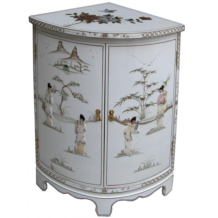 meuble d 39 angle blanc chinois magasin du meuble asiatique et chinois. Black Bedroom Furniture Sets. Home Design Ideas