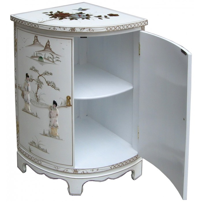 meuble d 39 angle blanc chinois magasin du meuble asiatique. Black Bedroom Furniture Sets. Home Design Ideas