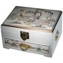 Boite à bijoux chinoise laque blanche